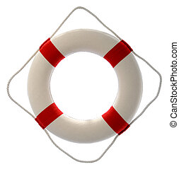 Lifesaver isolated over a white background