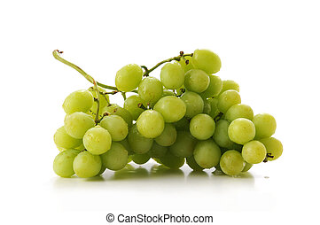 Cluster pf Green Grapes - Cluster of green grapes isolated...