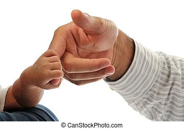 Infant Holding Man's Finger