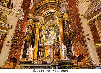 Interior of Cathedral in Valencia Spain