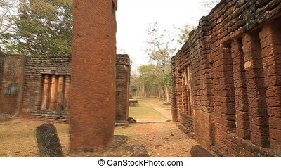 Old town - Kamphaeng Phet Historical Park in Thailand :...