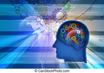 Intelligence concept in abstract - Intelligence concept in...