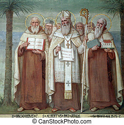 Carmelite Saints - Saint Brocardus, Albert of Jerusalem and...