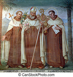 Carmelite Saints - Saint Angelus, Andrew Corsini and Bl John...