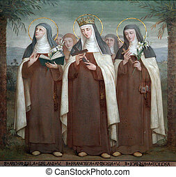 Carmelite Saints - Bl. Archangela Girlani, Frances d'Amboise...