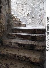 Stone stairs in Sibenik, Croatia