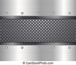metal grid background - Pattern of metal texture...