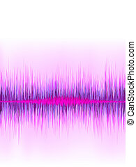 Pink sound wave on white background.  + EPS8