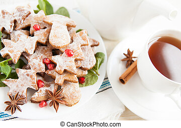 Cookies with cinnamon - Christmas morning tea
