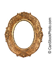 Old oval picture frame