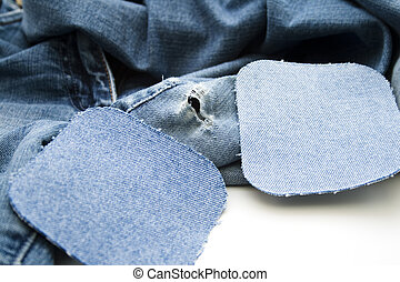 Old trousers   - Old trousers with hole