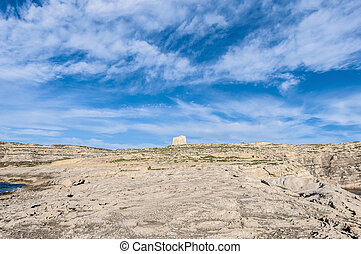 Dwajra Tower located in Gozo Island, Malta. - Dwajra Tower...