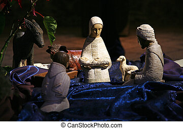 Nativity scene, Tabgha Church of the Multiplication