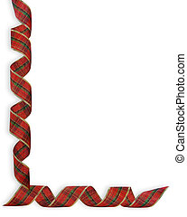 Christmas Ribbons Corner Border - Image and illustration...