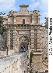 Main Gate in Mdina, Malta - Main Gate city access to Mdina...