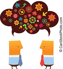Brainstorming - Two businessman brainstorming