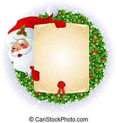 Santa Claus with message - santa claus with empty message...