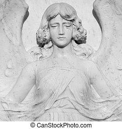 marble angel figure