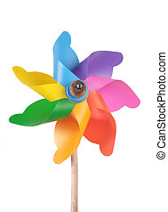 Mixed color Pinwheel on white
