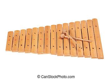 Xylophone  - Xylophone isolated on white