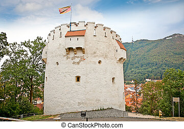 The White Tower in Brasov, Romania. - White Tower is located...