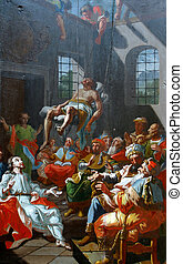 Cured a paralytic at Capernaum