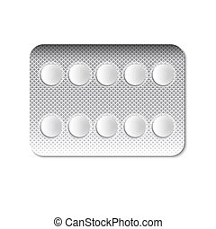 Round Pills in a blister pack