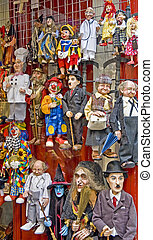 Puppets at Prague's Old Town area.