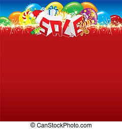 Promotional Sale Background with Space fo Text - Word Sale...