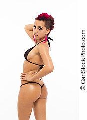 Sexy extreme woman in bikini