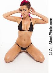 Sexy extreme bikini woman