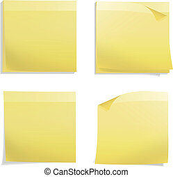 Yellow Post it Vector design