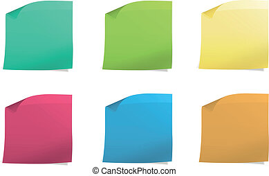 Colorful Post it. Vector design