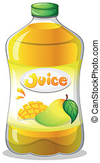 A bottle of juice - Illustration of a bottle of juice on a...