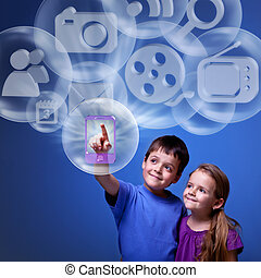 Mobile application from the cloud - Kids accessing cloud...