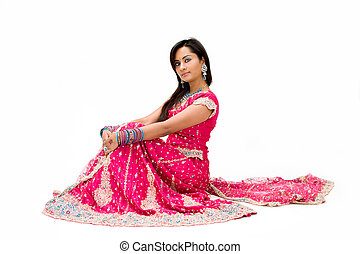 Beautiful Bangali bride sitting - Beautiful Bangali bride in...