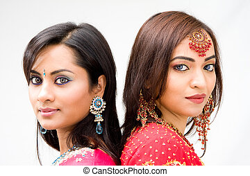 Beautiful Bengali brides - Two beautiful Bengali brides in...