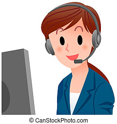 Vector illustration of close-up customer service...