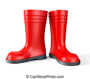 gumboot - red gumboot isolated on a white background