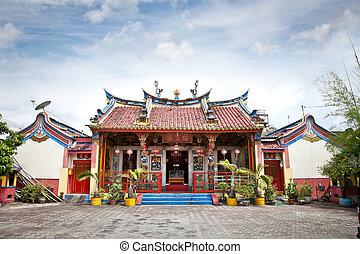 Klenteng Poncowinatan chinese temple in Yogyakarta , Java -...