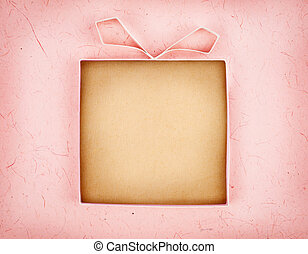Hand made empty gift box, textured paper as background Free...