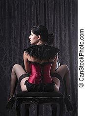 Young woman posing - Beautiful young woman posing in...