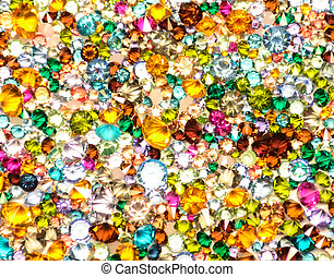 Multicolored crystals background