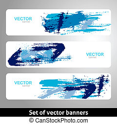 Set of vector banners Grunge design template