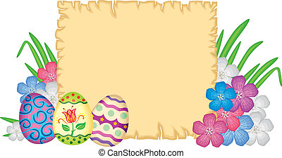 Easter congratulatory background