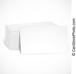 Pile of business cards with shadow template Vector...