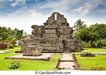 Candi Jago Temple near by Malang on Java, Indonesia. - Candi...