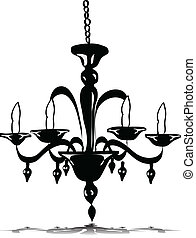 Vector illustration of chandelier