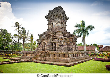 Candi Singosari Temple near by Malang on Java, Indonesia -...
