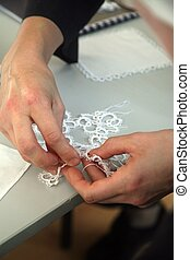 Process of lace-making